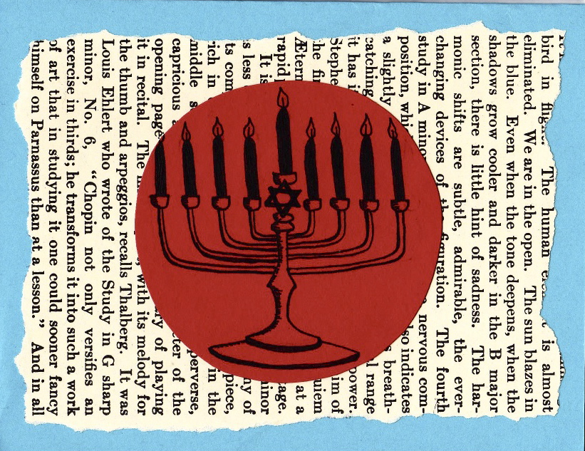 Chanukah card (Menorah)