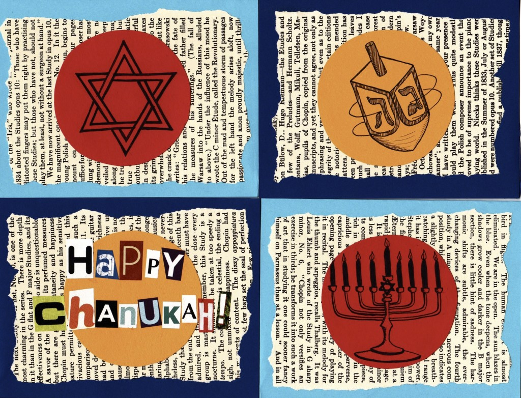 Chanukah cards (set of 4)