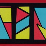 Geometric Magic card.  '80s-theme party invitation.