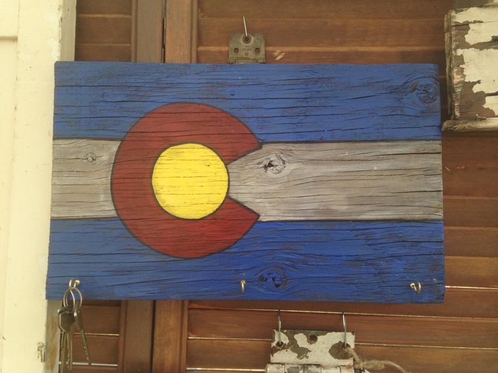 Colorado flag key hanger