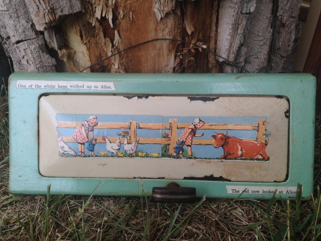 Decoupage on old stove door