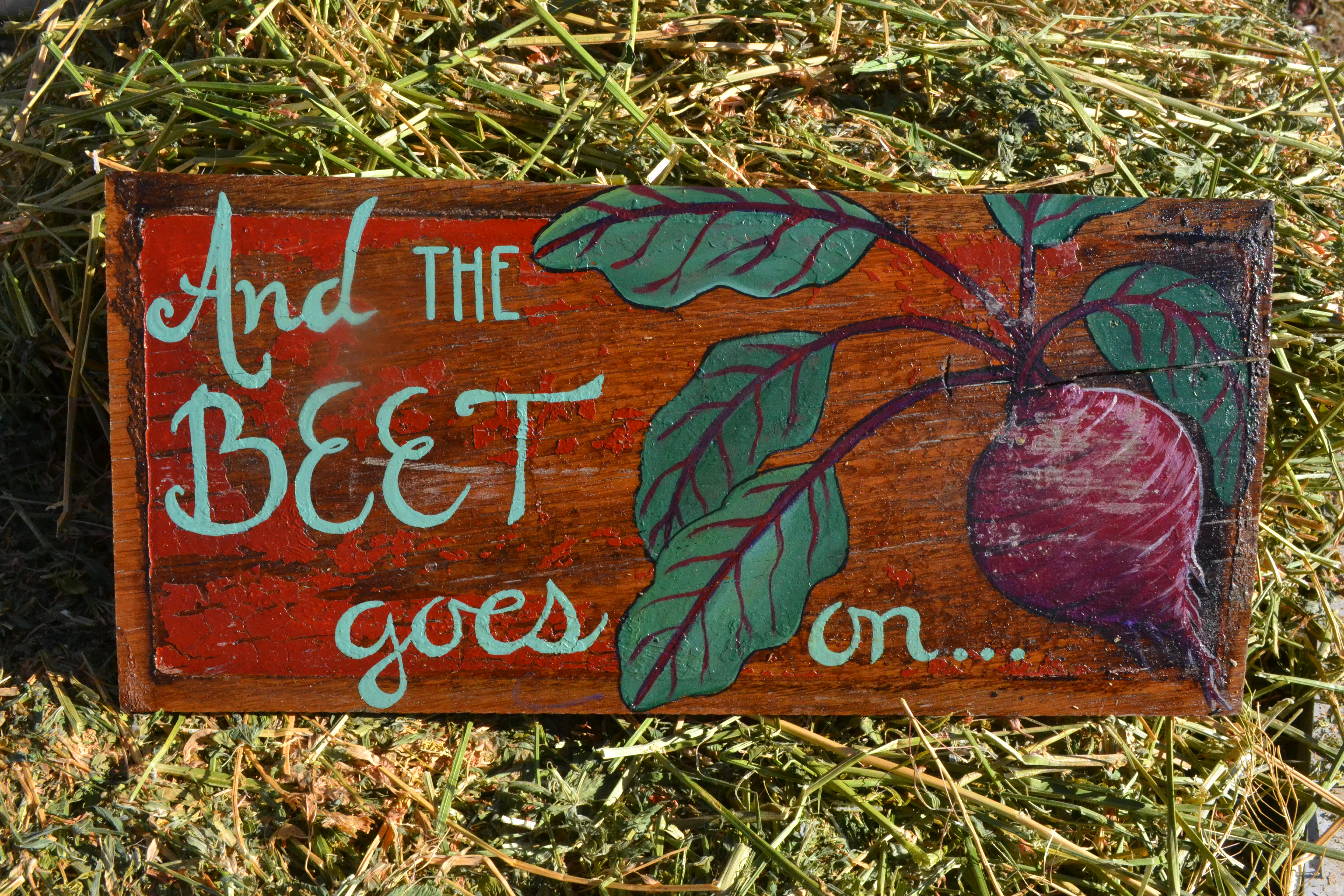 And the BEET goes on... sign