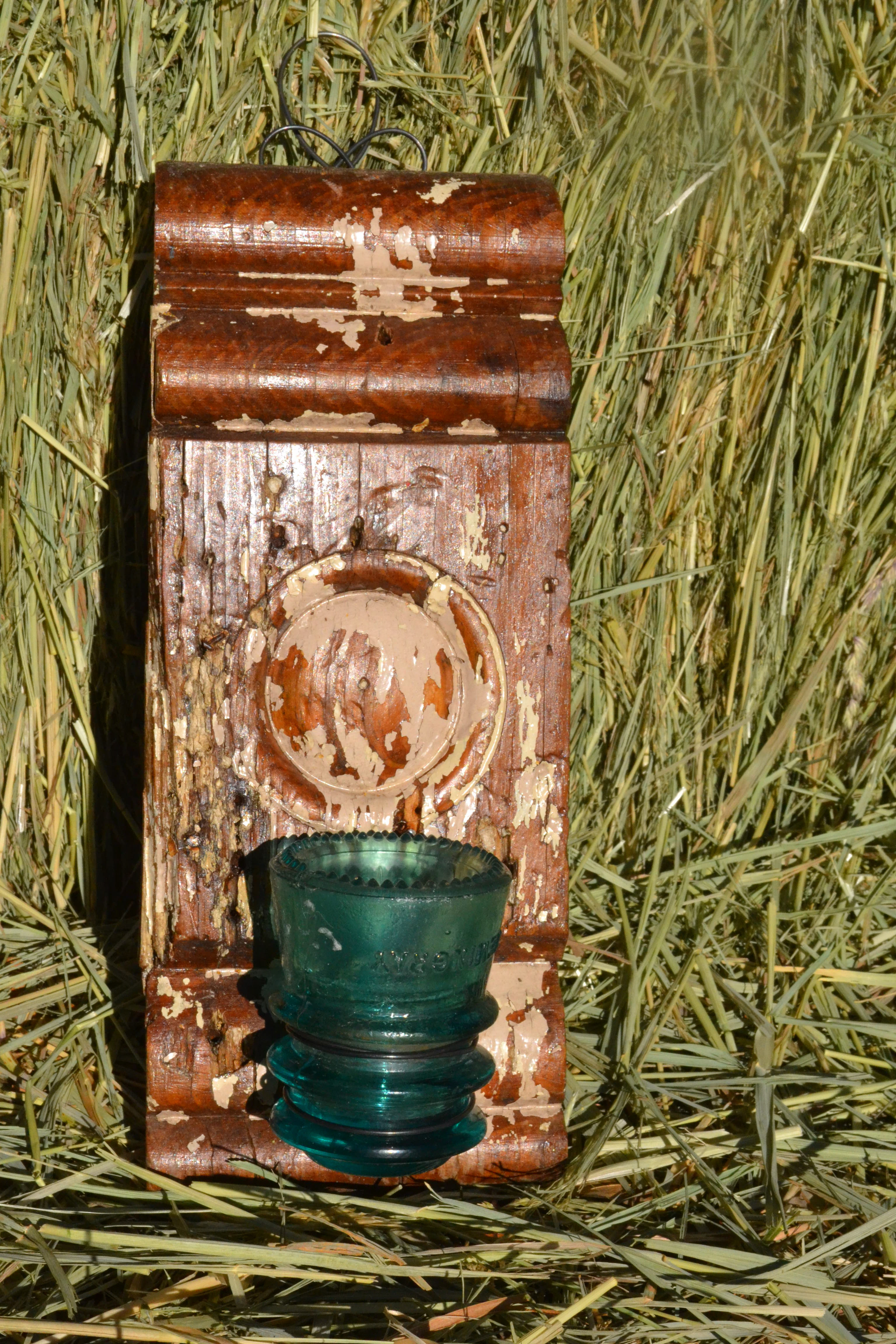 Blue Insulator vase/candelabra