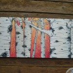 Aspens on canvas