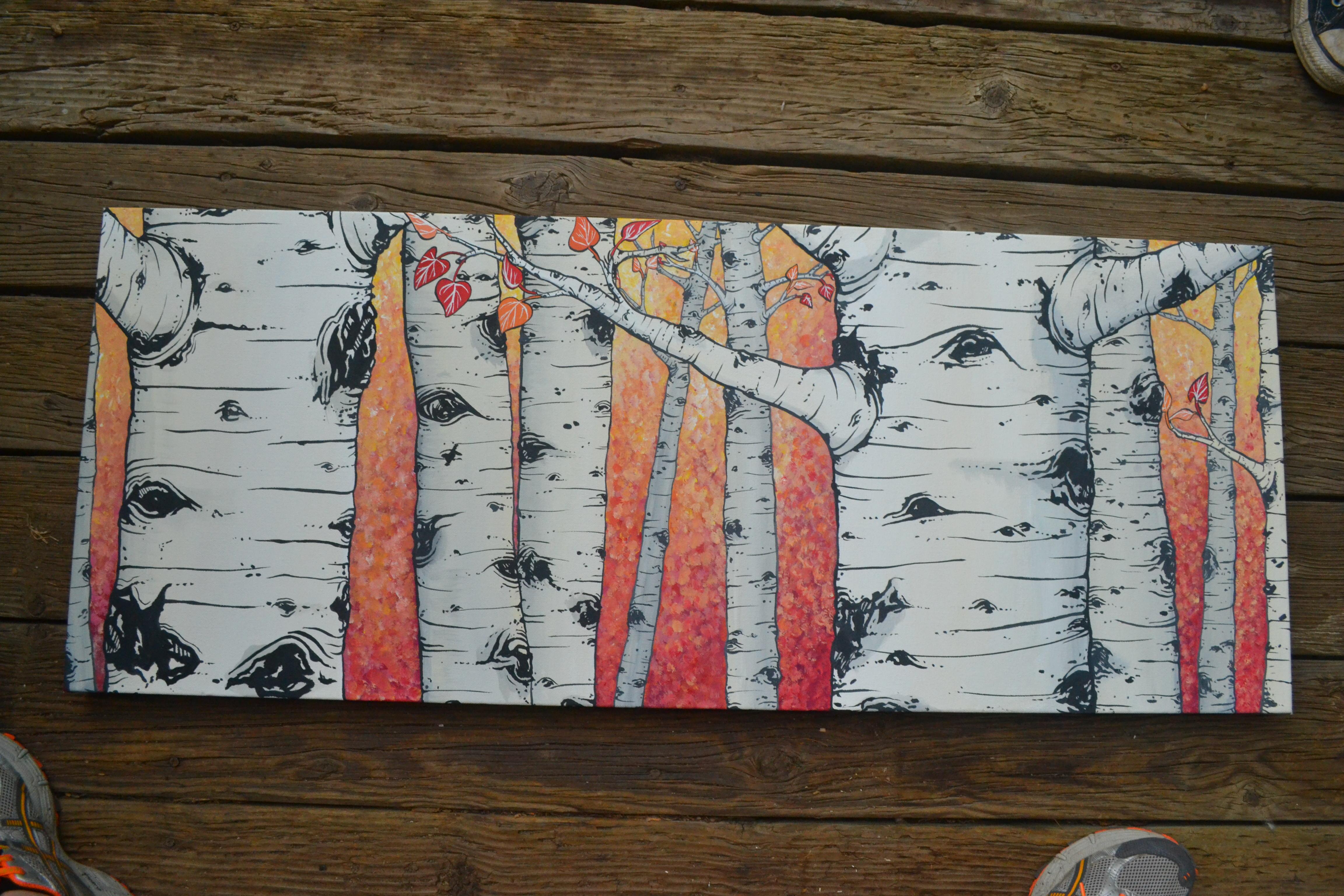 Aspens on canvas