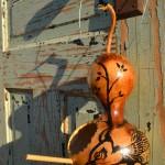 Hand-Painted Gourd bird house