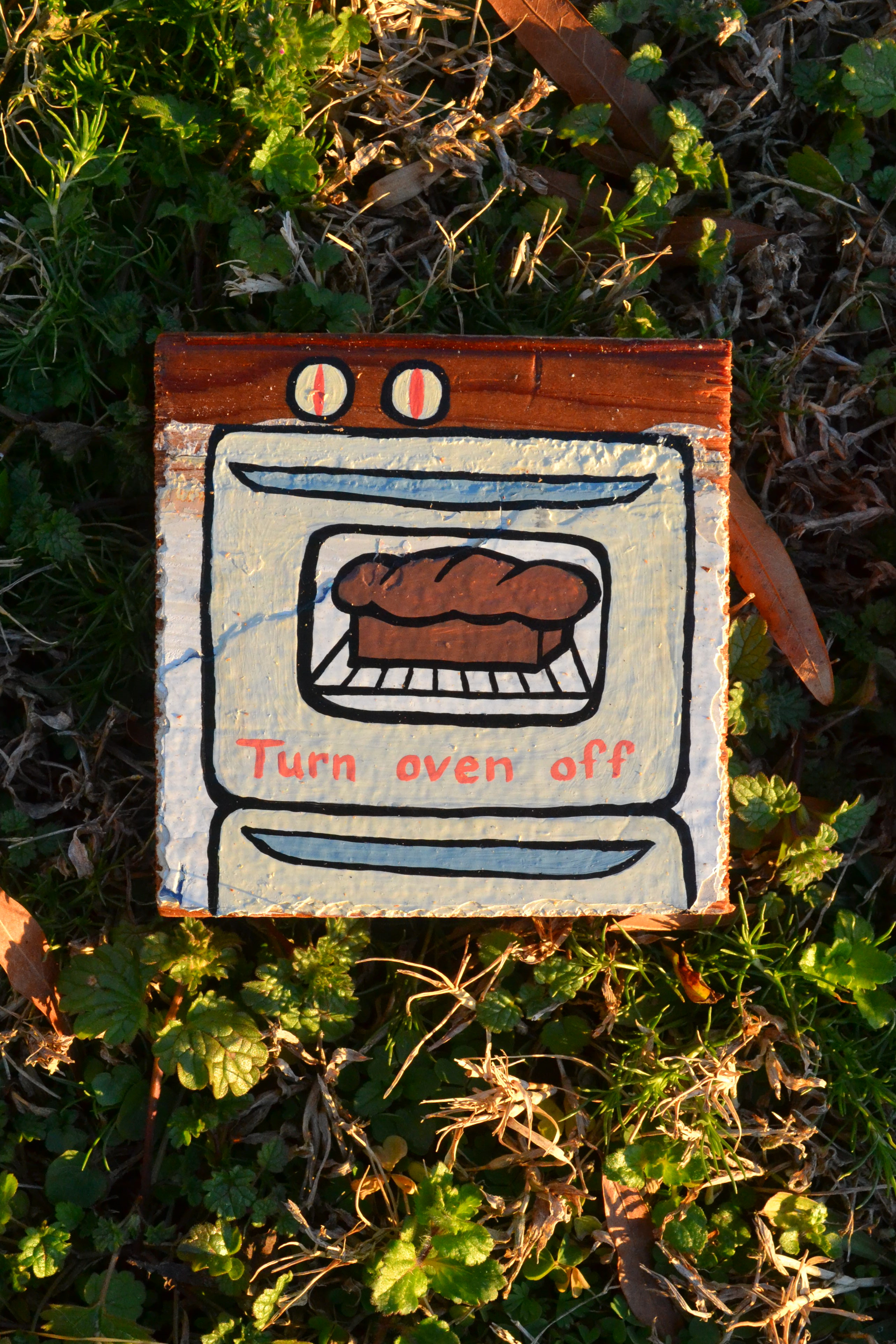 Turn oven off