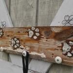 Muddy Paw Prints leash holder