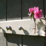 Silver Knob vase and hanger