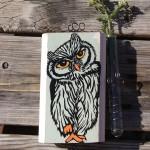 Baby Owl Test Tube flower holder