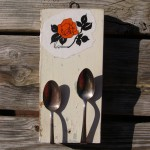 Spoon Outgoing Mail/Business Card holder