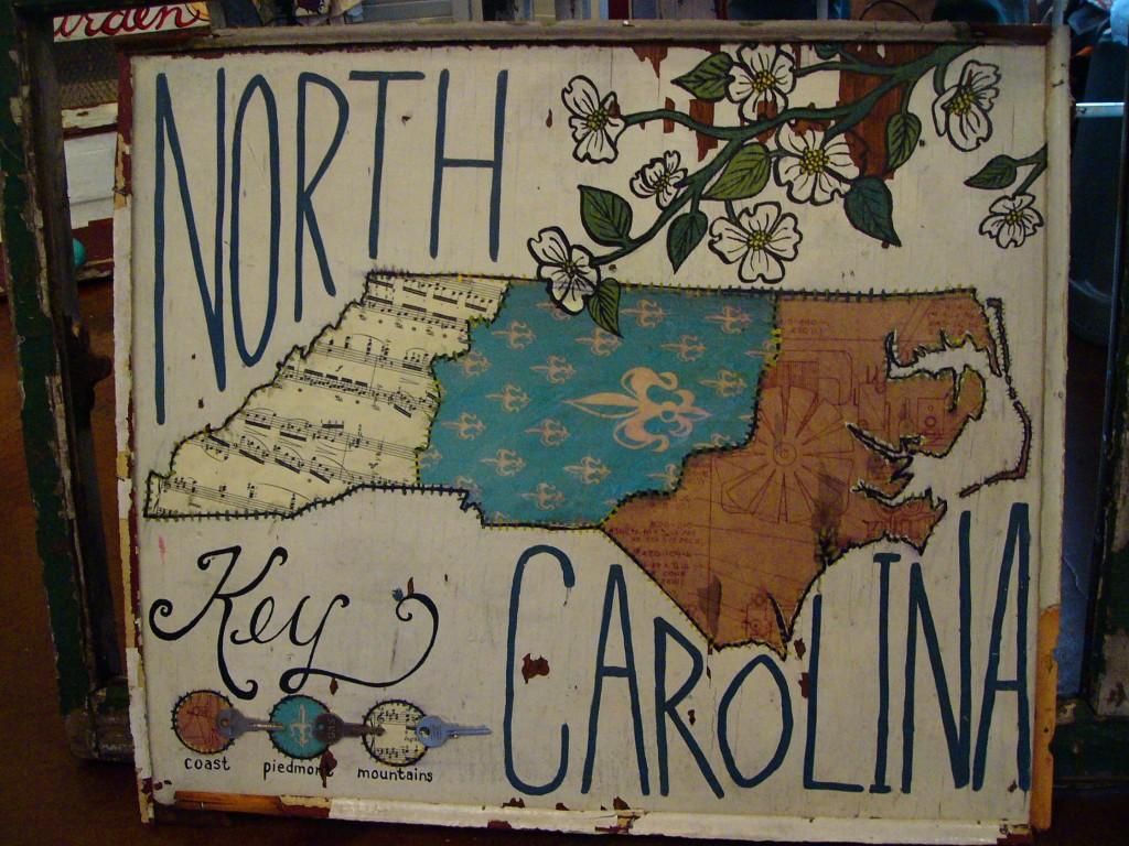 North Carolina region map