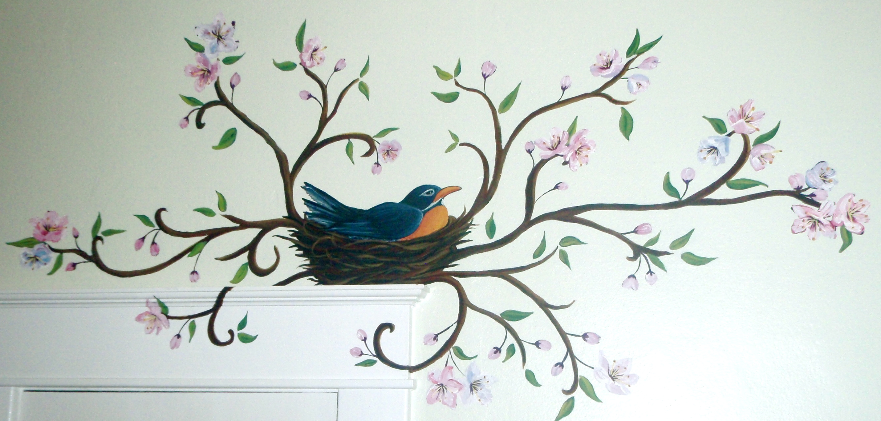 Robin in Nest (over window)