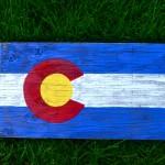 CO Flag on wood