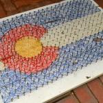 CO Flag string art